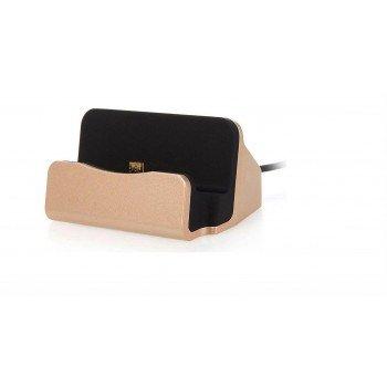 oem MICRO USB Docking Station για φόρτιση και συγχρονισμό χρυσό