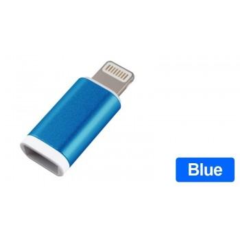 OEM Lightning male σε micro USB female Mπλέ