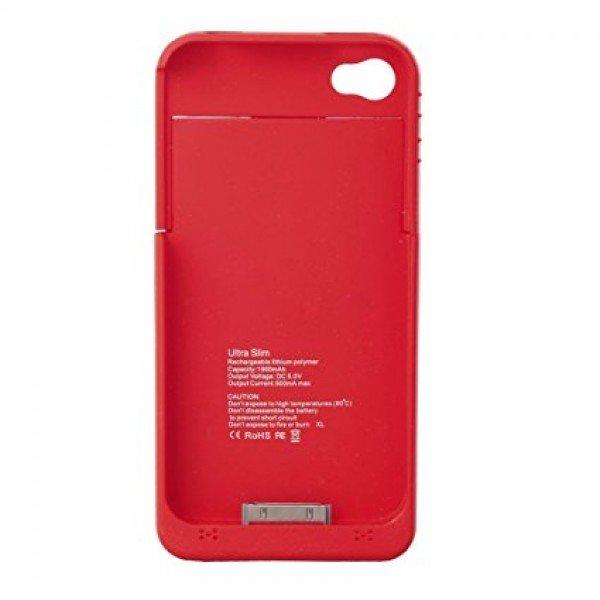 OEM Power Bank - Θήκη 1900mAh Για Αpple Iphone 4/4S κοκκινη Αξεσουάρ