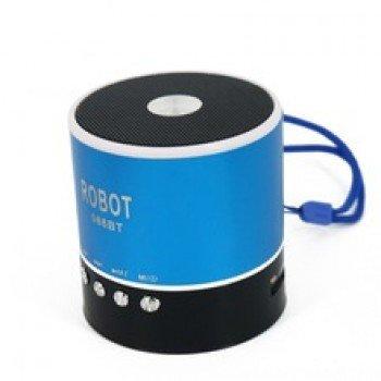 OEM Φορητό ραδιοφωνάκι ψηφιακό Bluetooth speaker usb/tf/line in/ με εσωτερική μπαταρία Robot-068BT blue