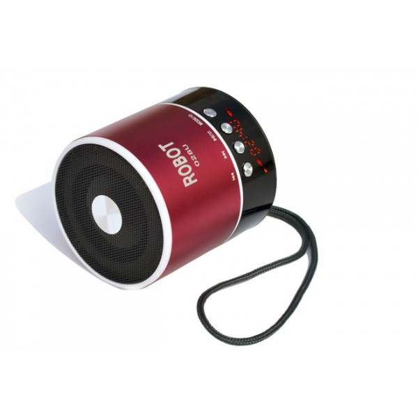 OEM Φορητό ραδιοφωνάκι ψηφιακό Bluetooth speaker usb/tf/line in/ με εσωτερική μπαταρία Robot-068BT red Ήχος - Εικόνα
