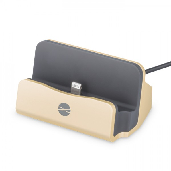 FOREVER Docking Station DS-01 για Apple, USB, 2A, 100cm, gold DS-01