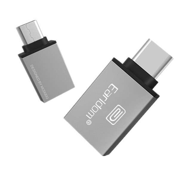 OEM Earldom  USB-C σε USB OTG Αντάπτορας Ασημί Αξεσουάρ