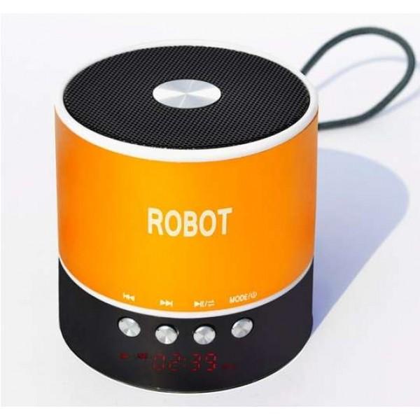 OEM Φορητό ραδιοφωνάκι ψηφιακό Bluetooth speaker usb/tf/line in/ με εσωτερική μπαταρία Robot-068BT gold Ήχος - Εικόνα