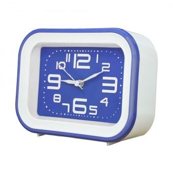OEM Ρολόι - Ξυπνητήρι Λευκό - Μπλε (SM030)