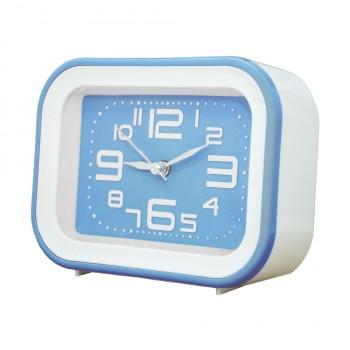 OEM Ρολόι - Ξυπνητήρι Λευκό - Γαλάζιο (SM030)