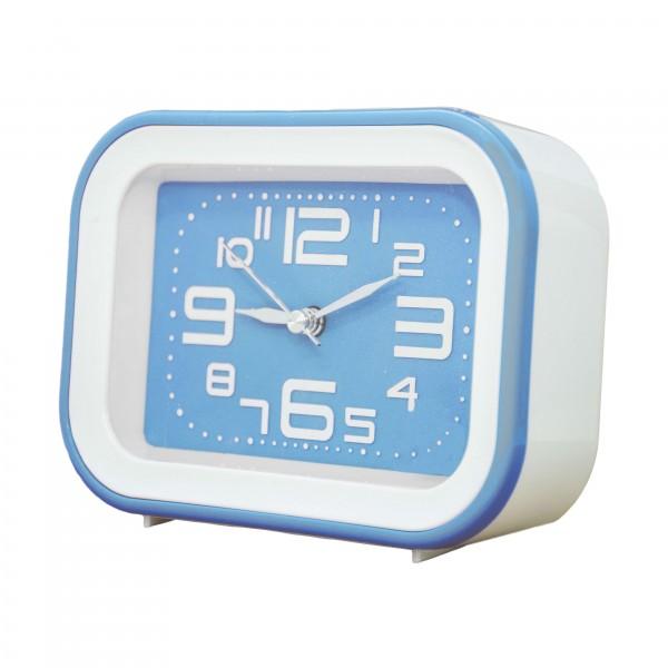 OEM Ρολόι - Ξυπνητήρι Λευκό - Γαλάζιο (SM030) Διάφορα