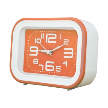 OEM Ρολόι - Ξυπνητήρι Λευκό - Πορτοκαλί (SM030)