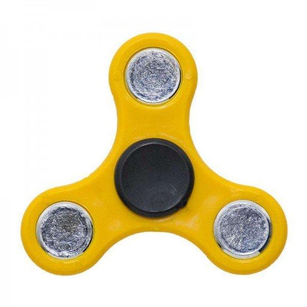 ΟΕΜ Fidget Spinner Anti Stress Αγχολυτικό Πλαστικό Παιχνίδι Ανακούφισης Στρες 1 minute Κίτρινο Μαύρο