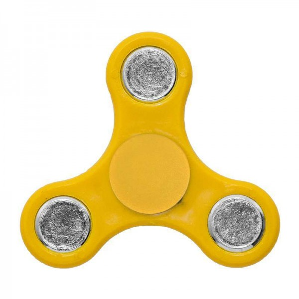 ΟΕΜ Fidget Spinner Anti Stress Αγχολυτικό Πλαστικό Παιχνίδι Ανακούφισης Στρες 1 minute Κίτρινο