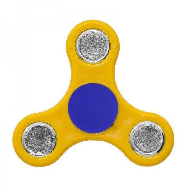 ΟΕΜ Fidget Spinner Anti Stress Αγχολυτικό Πλαστικό Παιχνίδι Ανακούφισης Στρες 1 minute Κίτρινο Μπλέ