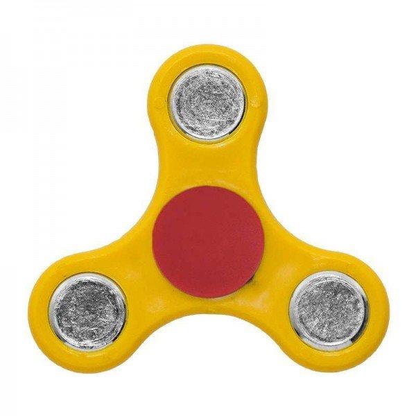 ΟΕΜ Fidget Spinner Anti Stress Αγχολυτικό Πλαστικό Παιχνίδι Ανακούφισης Στρες 1 minute Κίτρινο Κόκκινο