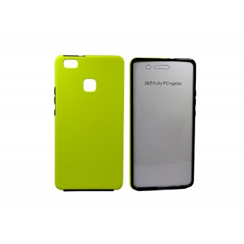 OEM Θήκη Σιλικόνης Full Cover Για Huawei P10 Lite Κίτρινο με περιμετρικά μαύρο