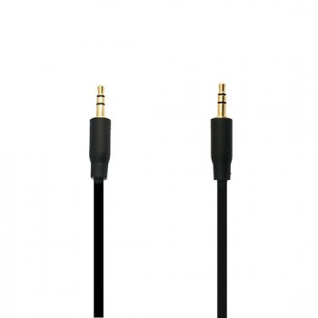 Adapter (audio line in) 3.5mm - 3.5mm 1 Meter Μαύρο