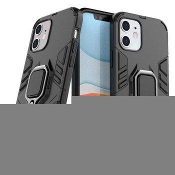 OEM Ring Holder Back Cover Για Apple iPhone 11 Pro Max Μαύρο