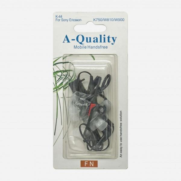 OEM Ακουστικά Stereo (Hands Free) Με Ρυθμιστή Για Sony Ericsson K750/W810/W900  Κ-44 Μαύρα