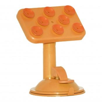 OEM Βάση Επιτραπέζιου και Αυτοκινήτου Universal  Με Βεντούζες Πορτοκαλί (MS-2)