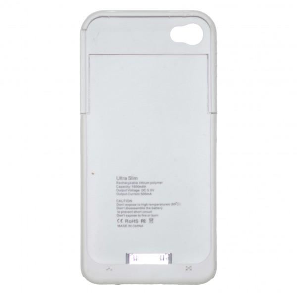 OEM Power Bank - Θήκη 1900mAh Για Αpple Iphone 4G/4S Άσπρο Αξεσουάρ
