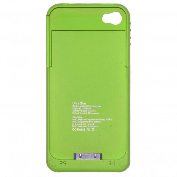 OEM Power Bank - Θήκη 1900mAh Για Αpple Iphone 4G/4S Πράσινη Αξεσουάρ
