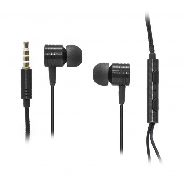 OEM Ακουστικά Stereo Handsfree Universal Με Ρυθμιστή Μαύρα (EN50332-2) Αξεσουάρ
