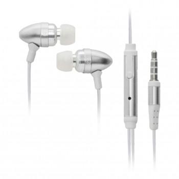 OEM Ακουστικά Stereo Handsfree Universal Με Ρυθμιστή Ασημί (M102)
