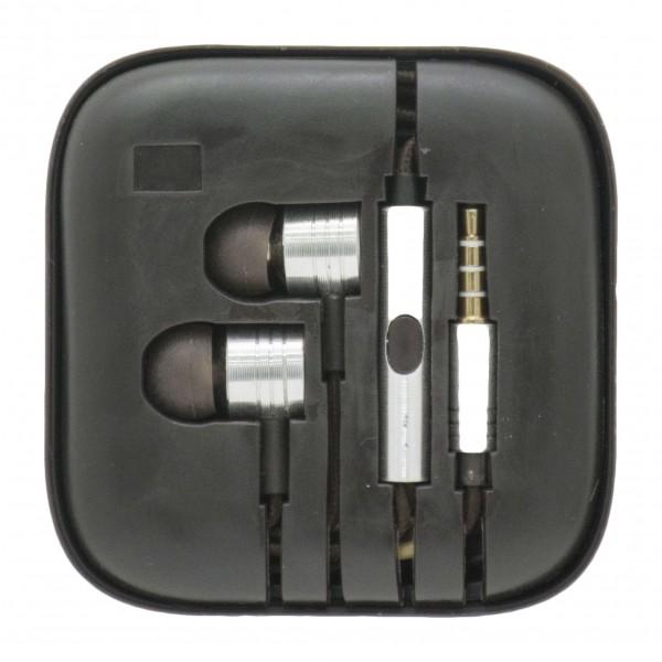 OEM Ακουστικά Stereo Handsfree Universal Με Ρυθμιστή Ασημί (EN50332-2)  Αξεσουάρ