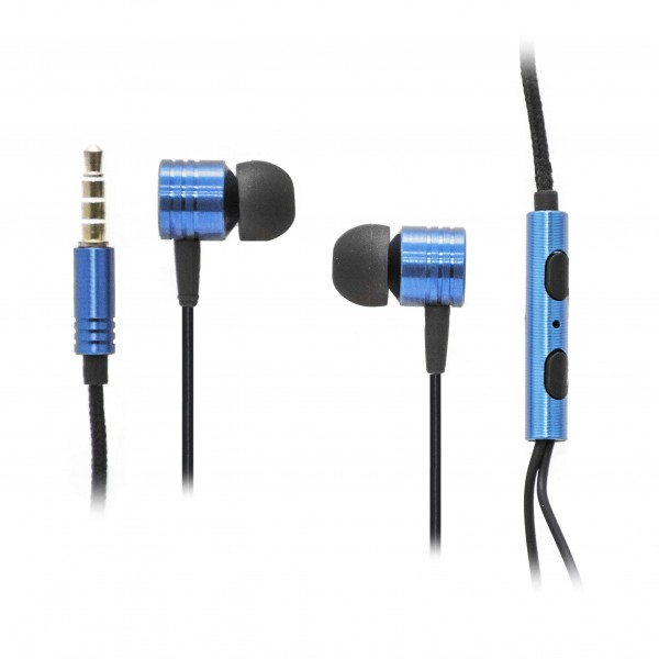 OEM Ακουστικά Stereo Handsfree Universal Με Ρυθμιστή Μπλε (EN50332-2) Αξεσουάρ