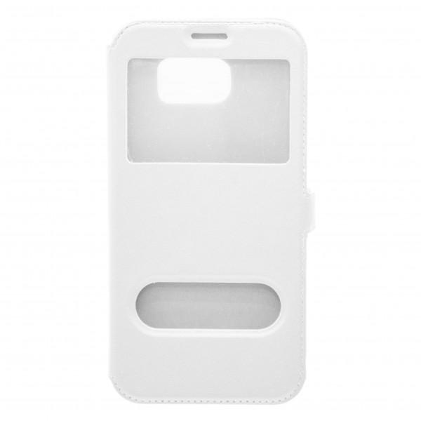 OEM  Θήκη Βιβλίο Με Παράθυρα Για Samsung Galaxy J5 (2016) Με Πλάγιο Κούμπωμα Άσπρη Θήκες