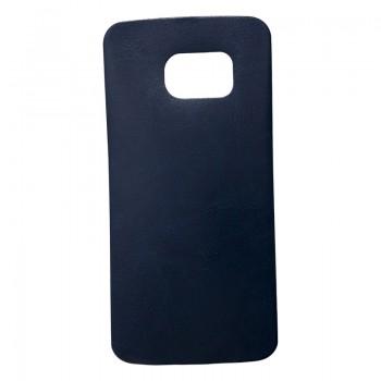 Θήκη Σιλικόνης Για Samsung Galaxy S6 Με Πλάτη Δερματίνη Μπλε