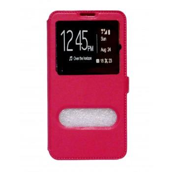 Θήκη Βιβλίο Με Παράθυρα Για Huawei P9 Lite Mini Με Πλάγιο Κούμπωμα Ροζ