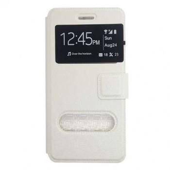OEM Θήκη Βιβλίο Με Παράθυρα Για Huawei P9 Plus Λευκή