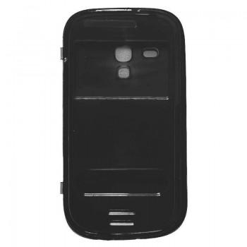 Θήκη Βιβλίο Σιλικόνης Με Παράθυρα Για Samsung Galaxy S3 Μαύρο