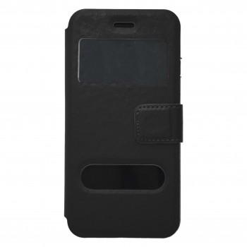 OEM  Θήκη Βιβλίο Με Παράθυρα Για Samsung Galaxy Core Prime / G360 Μαύρη