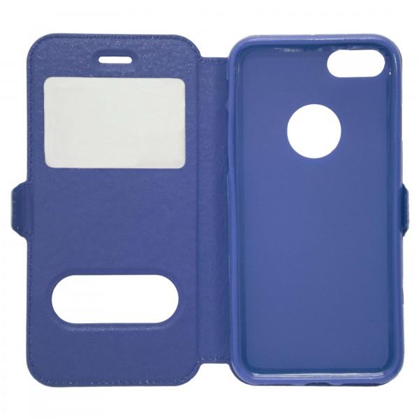 OEM Θήκη Βιβλίο Με Παράθυρα Για iPhone 7 Μπλε