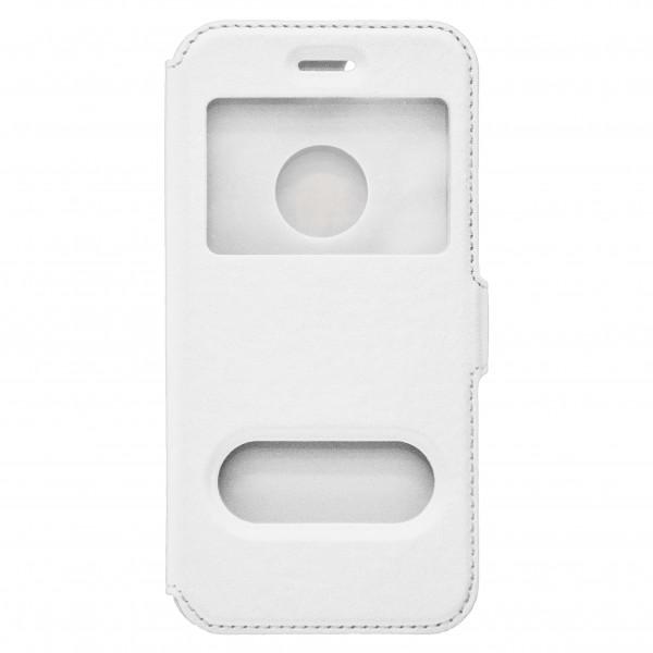 OEM Θήκη Βιβλίο Με Παράθυρα Για iPhone 7 Άσπρο