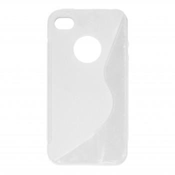 OEM Θήκη Σιλικόνης  Για Apple iPhone 4/4S Μήλο Άσπρη