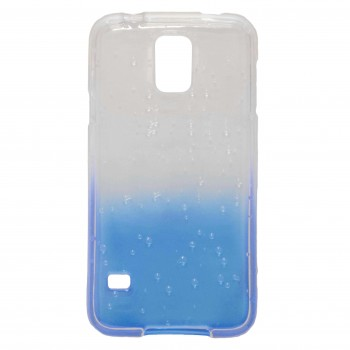 OEM Θήκη Σιλικόνης Για Samsung Galaxy S5 Ημιδιάφανη Μπλε Με Σχέδιο Νερά