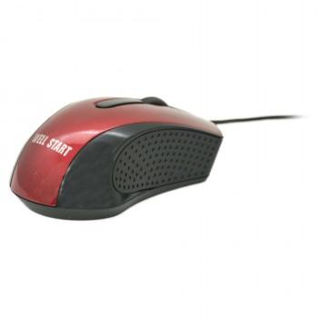 OEM Ενσύρματο Ποντίκι Για Laptop/PC (Well Start) Κόκκινο (WG303)