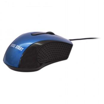 OEM Ενσύρματο Ποντίκι Για Laptop/PC (Well Start) Μπλε (WG303)