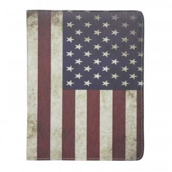 Θήκη Βιβλίο - Σιλικόνη Flip Cover Με Σχέδιο Αμερικάνικη Σημαία  Για Apple Ipad Air