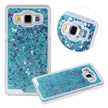 OEM Θήκη Σιλικόνης Με Υγρό Glitter Για Samsung Galaxy S8 Μπλε