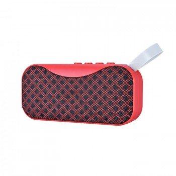oem bs-115 Bluetooth 4.2 Φορητό ηχείο με usb, κάρτα μνήμης και aux in κόκκινο