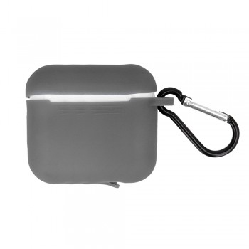 Airpods Pro case gray with hook