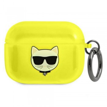 Karl Lagerfeld case for Airpods Pro KLAPUCHFY yellow Choupette