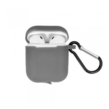 Airpods case gray with hook