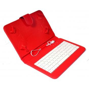 OEM Θήκη Universal Για Tablet 7'' keyboard Κόκκινη